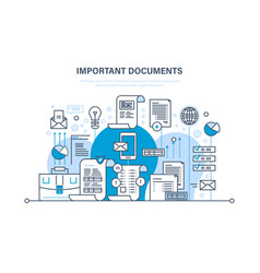 important documents business documents accounts vector image