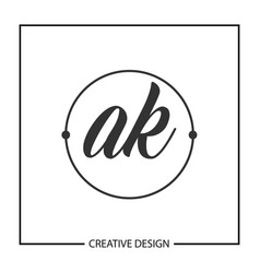Initial letter ak logo template design vector