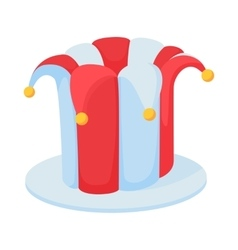 Jester hat icon in cartoon style vector image