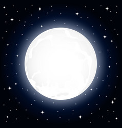 large full moon and starry sky at night vector image