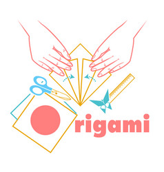 logo for classes origami vector image