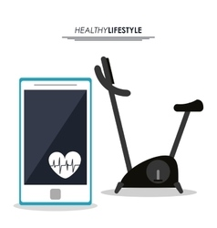 Machine and smartphone icon Fitness design vector