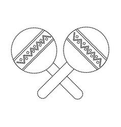 Maracas musical instrument icon image vector