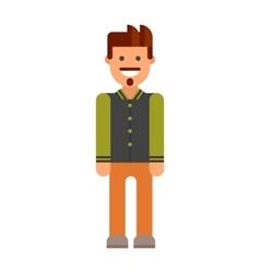 Modern hipster boy vector image