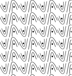 Patterns of white and black wave geometry vector
