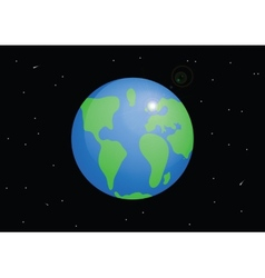 Planet Earth Cartoon vector image vector image