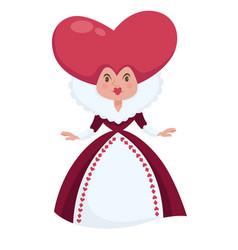 Queen hearts alice in wonderland character vector