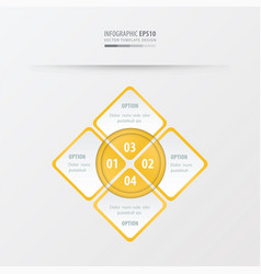 Rectangle presentation yellow color vector