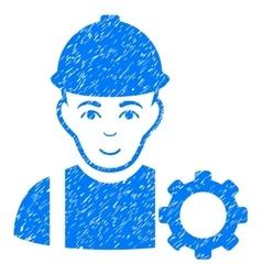 Repairman Grainy Texture Icon vector