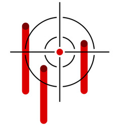 Reticle with bleeding hits vector