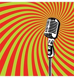 Retro Microphone 2 vector
