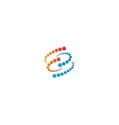 Round circle atom technology logo vector