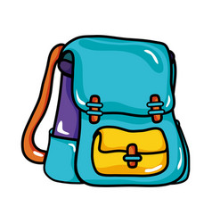 School backpack education object design vector