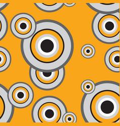 seamless pattern of orange and white grunge vector image