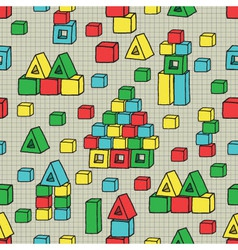 seamless pattern with cubes vector image
