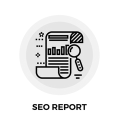 SEO Report Line Icon vector image