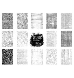 Set of grunge textures vector