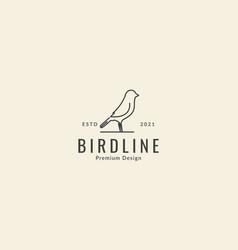 Simple line bird canary logo symbol icon graphic vector