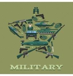 Star Army Composition vector
