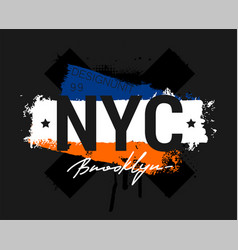 t-shirt - new york city apparel abstract design vector image
