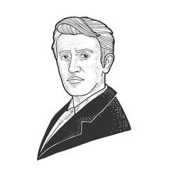 Thomas edison sketch vector