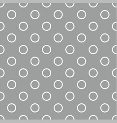 Tile polka dots grey pattern for background vector