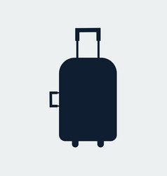 travel bag suitcase icon vector image