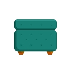 Turquoise pouf furniture icon cartoon style vector image
