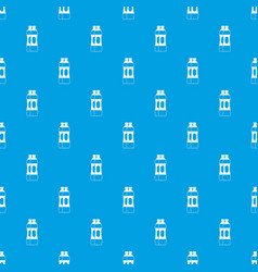 two plastic bottles pattern seamless blue vector image