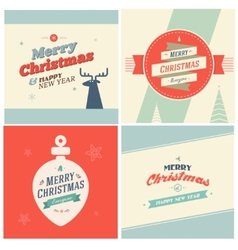 Vintage Christmas Elements Background With vector image