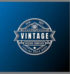 Vintage retro badge emblem label stciker logo vector
