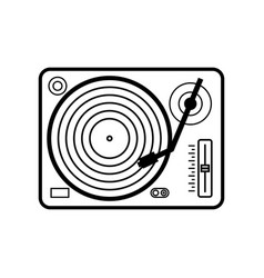 Vinyl player icon isolated on white background vector