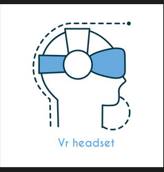 vr headset flat icon vector image