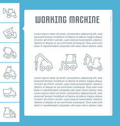 website banner and landing page working machine vector image