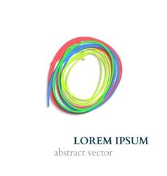 Abstract Handraw Lines Circles vector image vector image