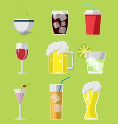 Beverage Drink Icons Symbols Set vector image vector image