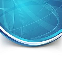 Blue border swoosh wave line modern background vector image