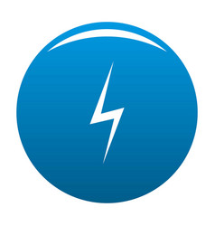 lightning icon blue vector image