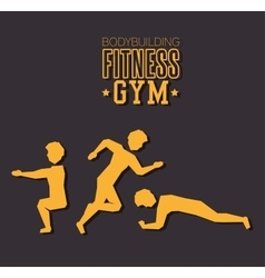 poster bodybuilding fitness gym design vector image