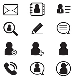 social Netwok User silhouette icons Symbol vector image vector image