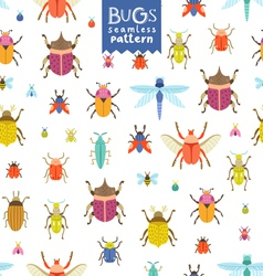 Bugs pattern vector image vector image