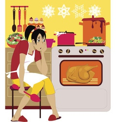 Cooking for holidays vector image vector image