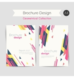 Geometrical brochure A4 vector image vector image
