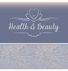logo depicting shells and pearls Health and beauty vector image