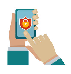 security program for modern devices vector image