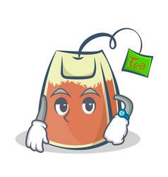 Waiting tea bag character cartoon art vector