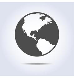 World globe icon gray color vector image