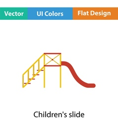 Childrens slide icon vector image