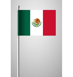 Flag of Mexico National Flag on Flagpole vector image vector image
