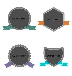 Four labels in retro style vector image vector image